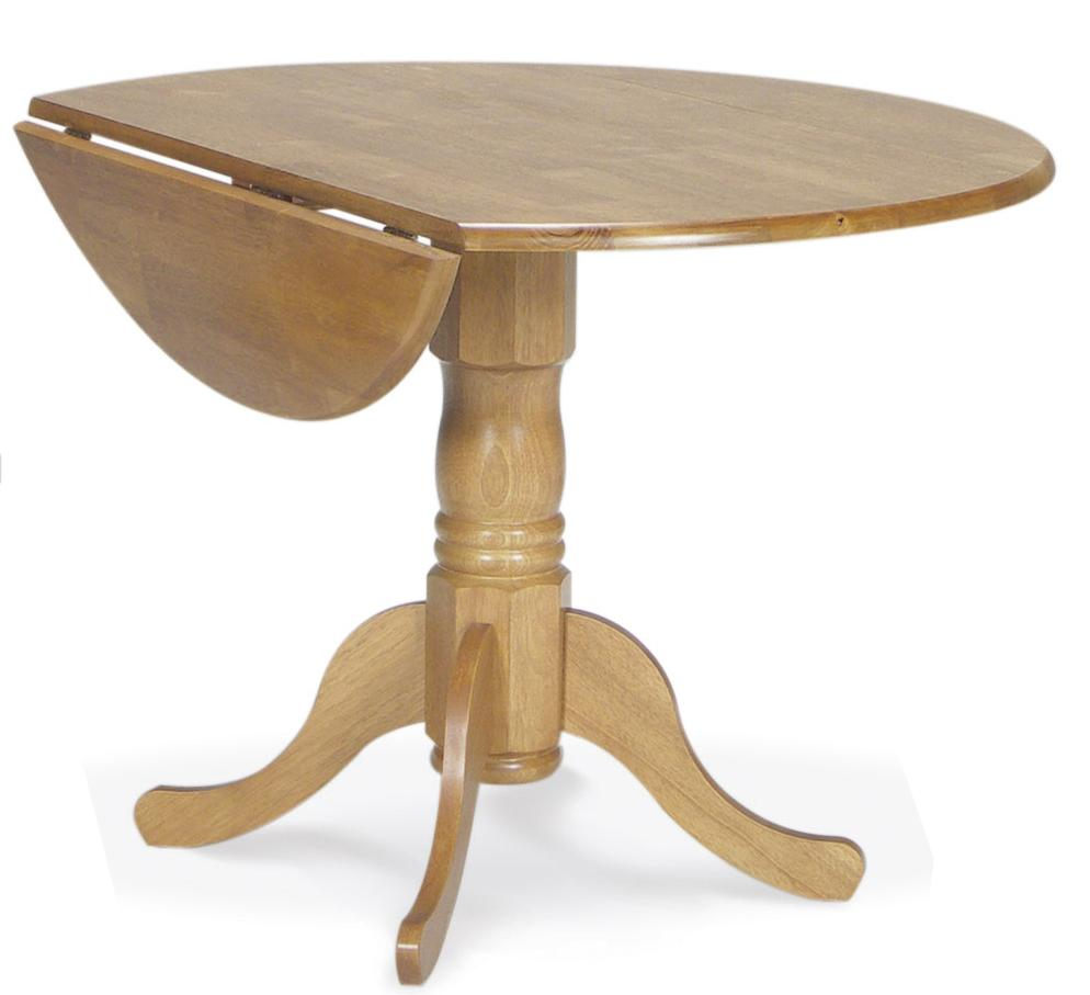 "John Thomas Dining Essentials 42"" Round Drop Leaf Pedestal Table - Item Number: T04-42DP"
