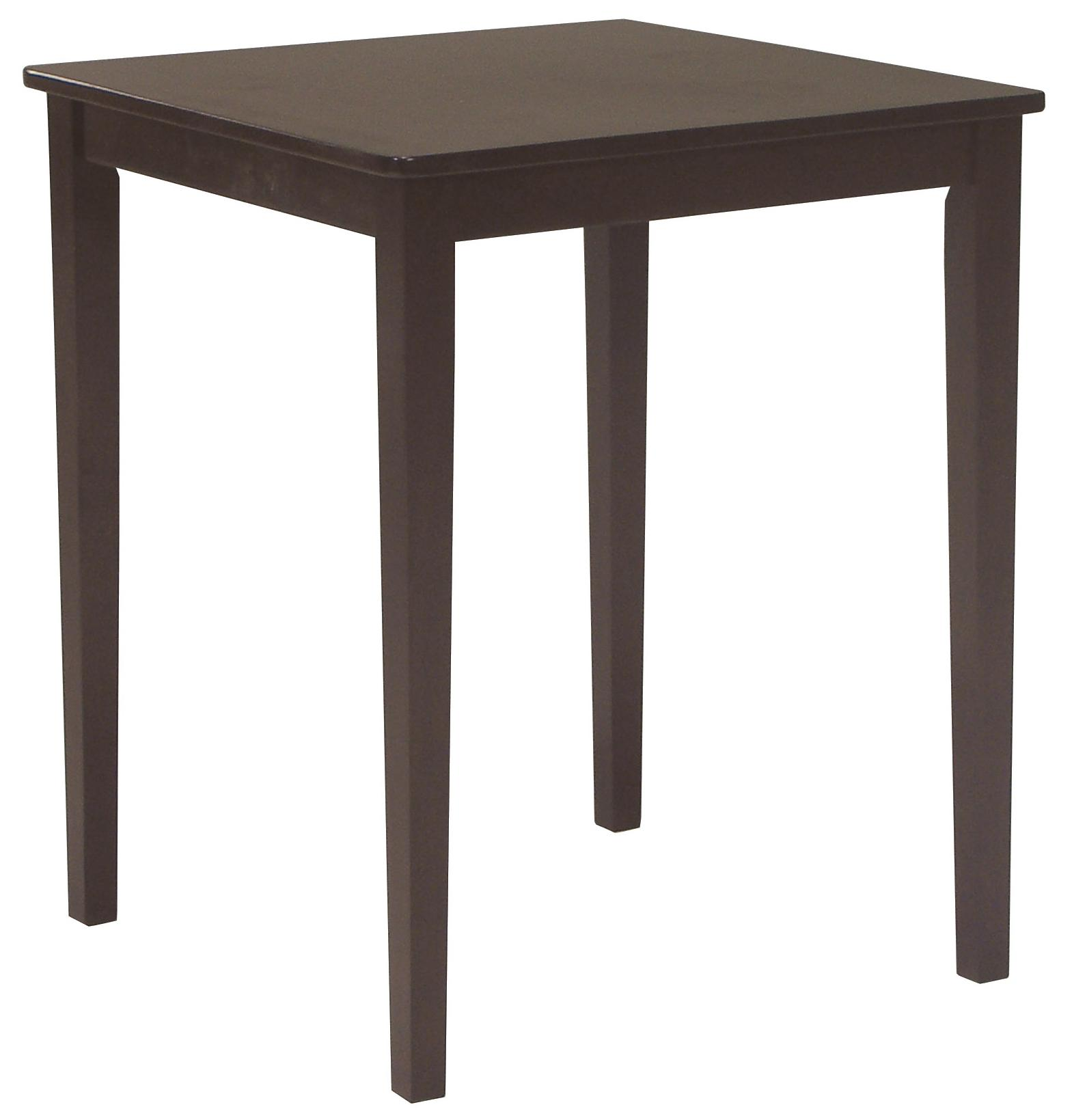 John Thomas Dining Essentials Contemporary Square Pub Table - Item Number: T15-3030GS