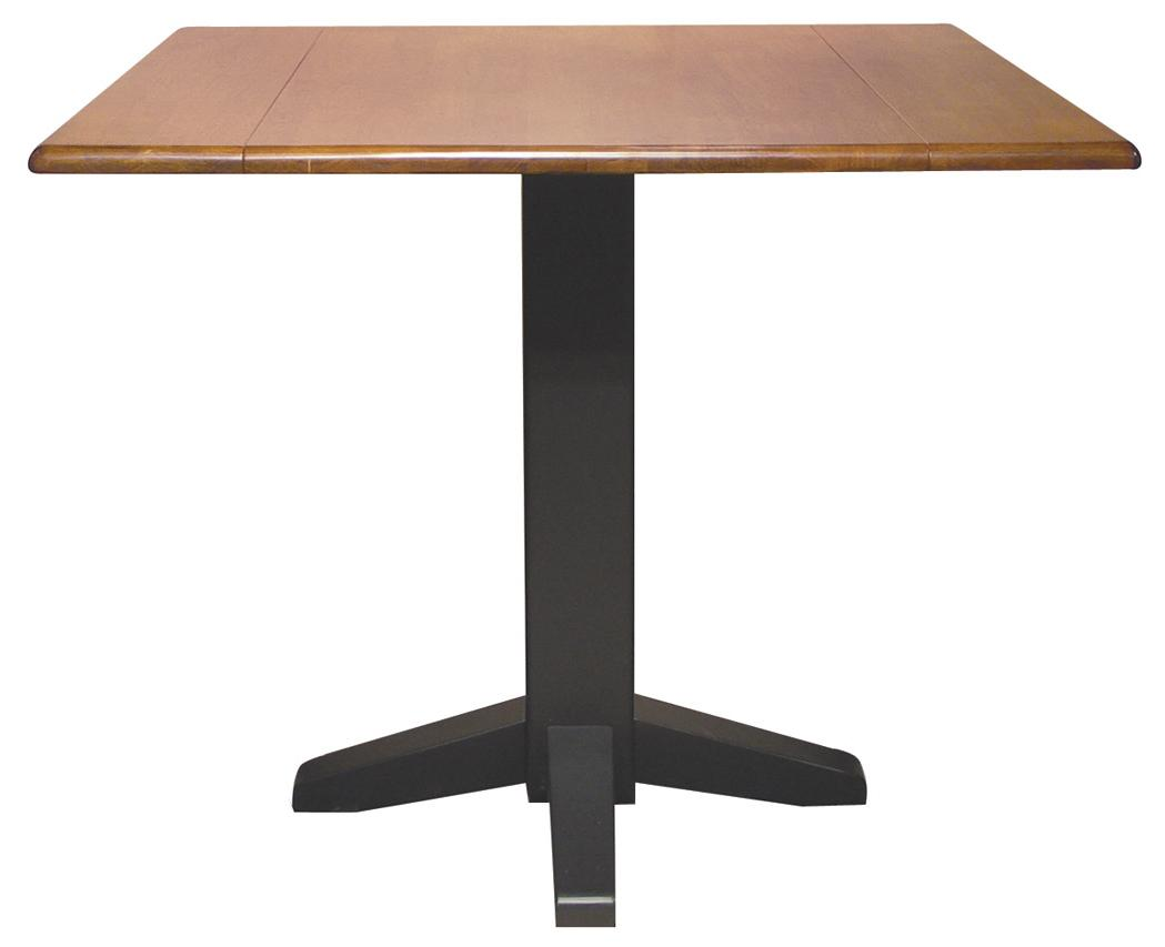 John Thomas Dining Essentials Square Drop Leaf Pedestal Table - Item Number: T57-36SDP