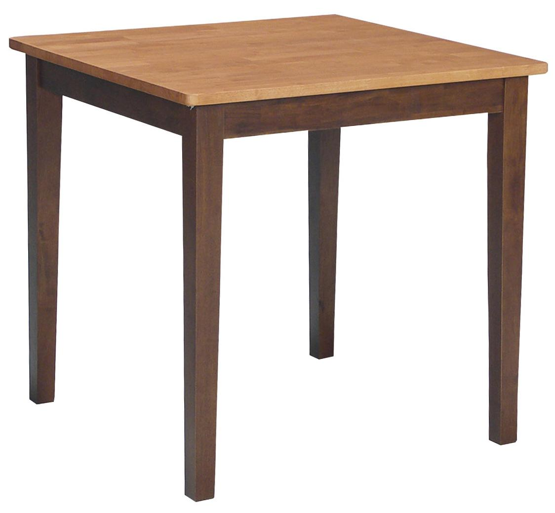 John thomas dining essentials casual square table for Dining room essentials