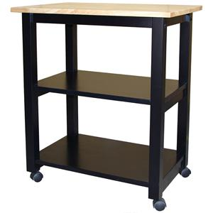 John Thomas Dining Essentials 2-Shelf Kitchen Cart