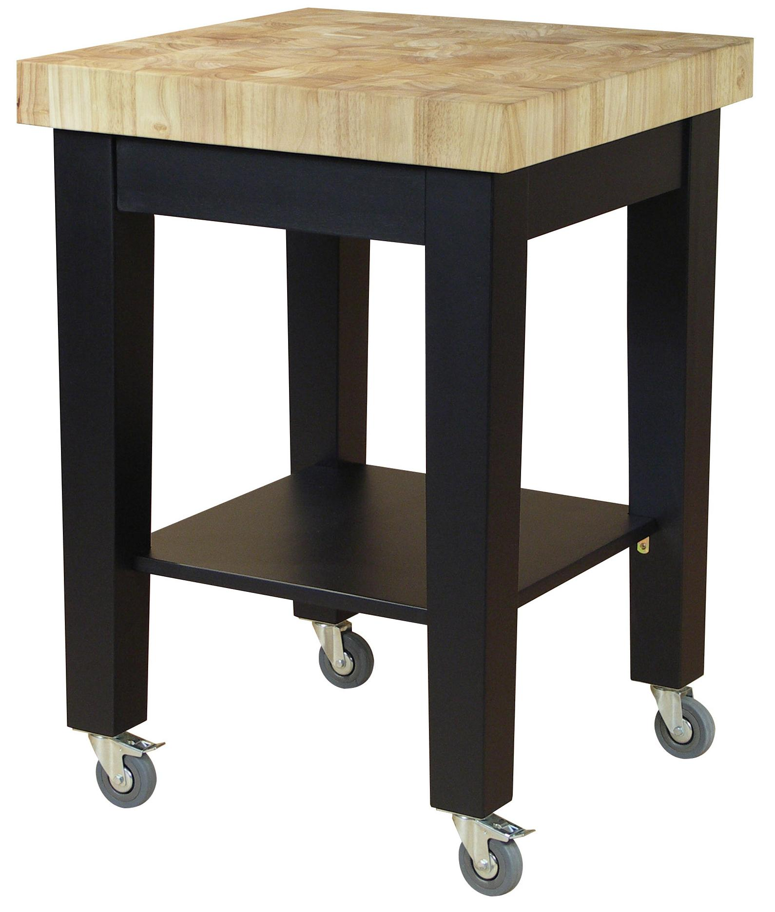 John Thomas Dining Essentials Kitchen Cutting Block Cart - Item Number: WC19-2424