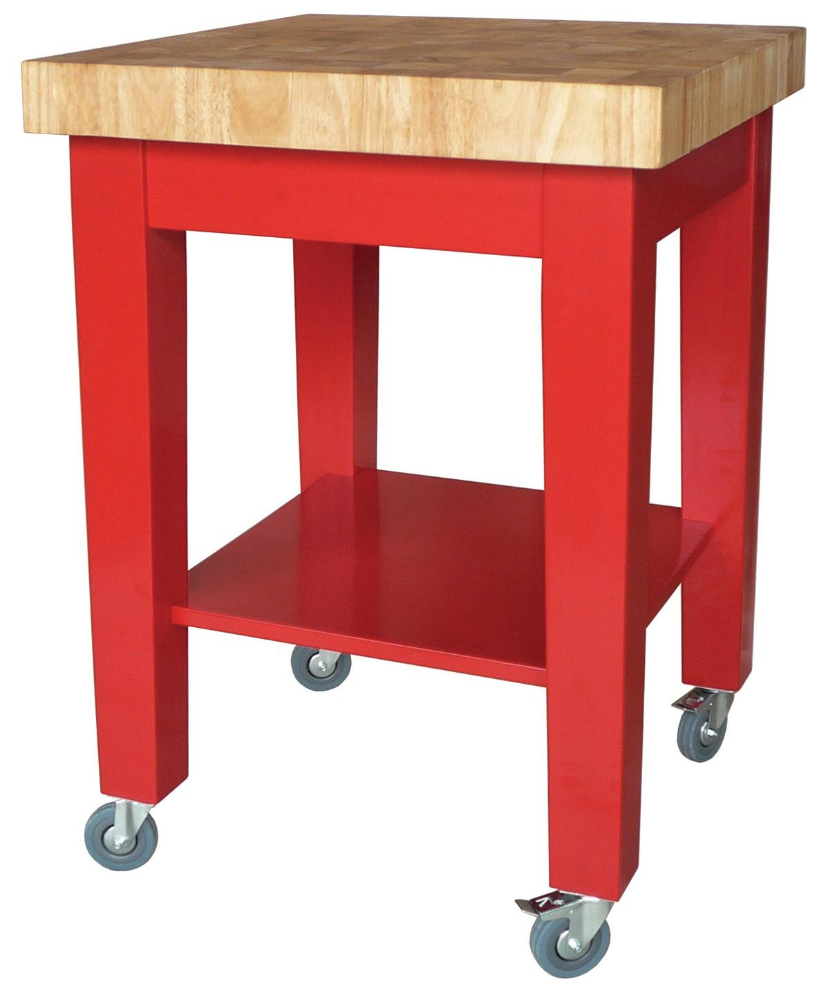John Thomas Dining Essentials Kitchen Cutting Block Cart - Item Number: WC21-2424