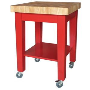 John Thomas Dining Essentials Kitchen Cutting Block Cart