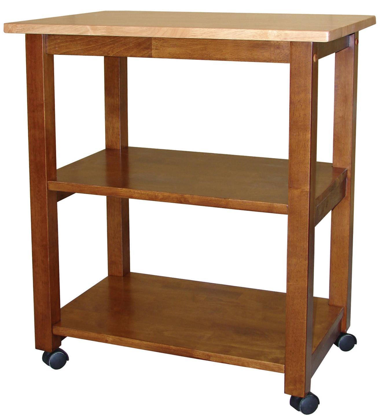 John Thomas Dining Essentials 2-Shelf Kitchen Cart - Item Number: WC58-185