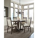 John Thomas Luxe Contemporary Table and Chair Set with Upholstered Chairs and Round Table