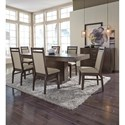 John Thomas Luxe Contemporary Upholstered Dining Side Chair with Two-Tone Look