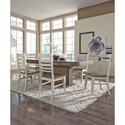 John Thomas Luxe Table and Chair Set - Item Number: T13-406018+6xC113-51