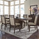John Thomas Luxe Table and Chair Set - Item Number: T13-406078A+40607B+6xC13-52