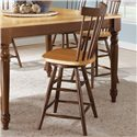 John Thomas Madison Park Spindleback Stool - Item Number: S58-2902