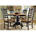 John Thomas Madison Park 5-Piece Table & Chair Set - Item Number: T57-42XBT+4xC57-271