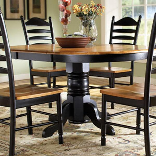 John Thomas Madison Park Single Pedestal Table with Butterfly Leaf - Item Number: T57-42XBT