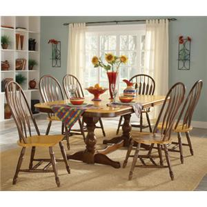 John Thomas Madison Park 7-Piece Pedestal Table & Side Chair Set