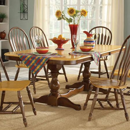 John Thomas Madison Park Double Pedestal Table with Butterfly Leaf - Item Number: T58-4268XBT