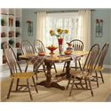 John Thomas Madison Park Double Pedestal Dining Table with Butterfly Leaf - Shown as part of table set