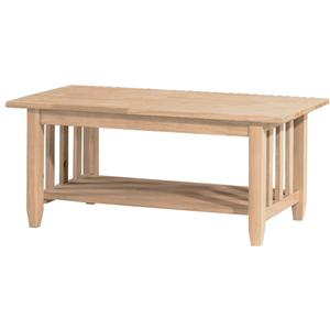 John Thomas SELECT Home Accents Mission Coffee Table
