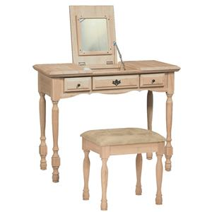 John Thomas SELECT Home Accents Traditional Vanity with Mirror