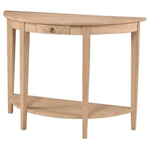John Thomas SELECT Home Accents Half Round Console Table