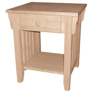 John Thomas SELECT Home Accents 1-Drawer Mission End Table