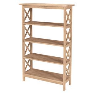4-Shelf X Bookcase