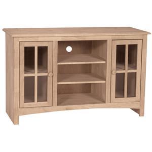 """48"""" Casual 2-Door 2-Shelf TV Stand"""