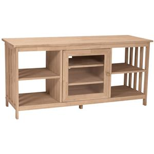 """John Thomas SELECT Home Accents 56"""" Mission Entertainment Stand"""