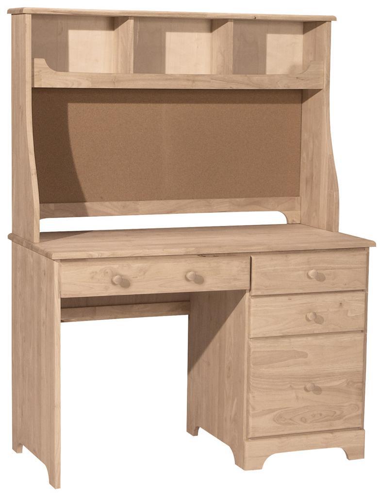 John Thomas Select Home Office Bd 5601 5603 Casual 4 Drawer Desk Hutch With Corkboard Corner Furniture Desk Hutch