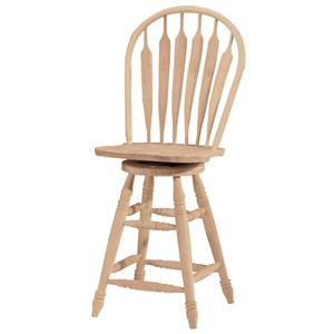 "John Thomas SELECT Dining 24"" Steambent Windsor Stool with Swivel"