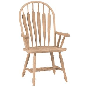 John Thomas SELECT Dining Deluxe Steambent Windsor Arm Chair