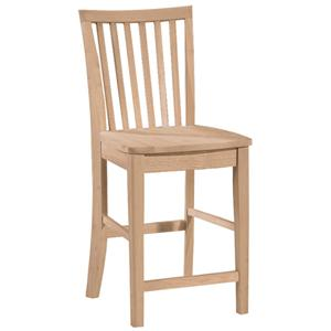 "John Thomas SELECT Dining 24"" Mission Stool"