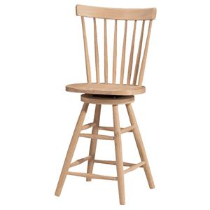 "John Thomas SELECT Dining 24"" Copenhagen Stool with Swivel"