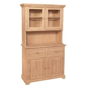 4-Door 2-Drawer Buffet & Hutch