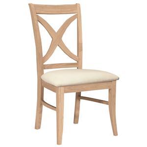 John Thomas SELECT Dining Vineyard Chair with Seat Cushion