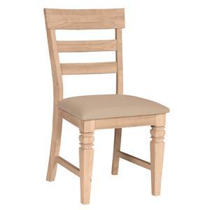 John Thomas SELECT Dining Java Chair with Vinyl Seat Cushion