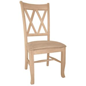 John Thomas SELECT Dining Double X-Back Chair with Seat Cushion