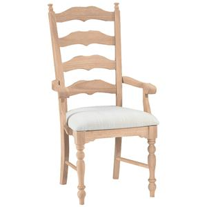 John Thomas SELECT Dining Maine Ladderback Arm Chair
