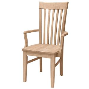 John Thomas SELECT Dining Tall Mission Arm Chair