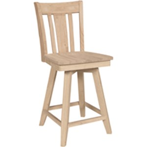 John Thomas SELECT Dining Contemporary Swivel Bar Stool