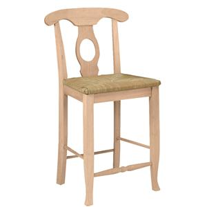 "John Thomas SELECT Dining 24"" Empire Stool with Rush Seat"