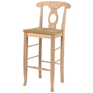 "John Thomas SELECT Dining 30"" Empire Stool with Rush Seat"