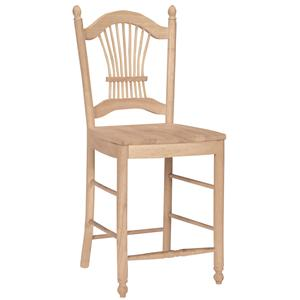 "John Thomas SELECT Dining 24"" Sheafback Stool"