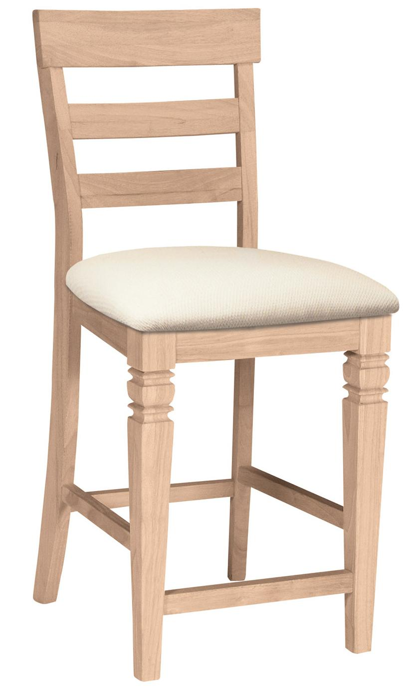 "24"" Java Stool with Seat Cushion"