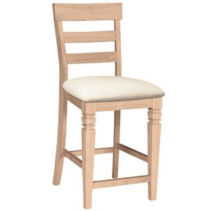 "John Thomas SELECT Dining 24"" Java Stool with Seat Cushion"