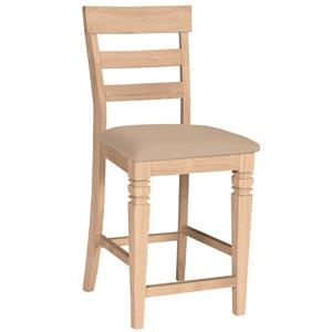 "John Thomas SELECT Dining 24"" Java Stool with Vinyl Seat Cushion"