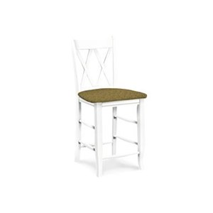 "John Thomas SELECT Dining Double ""X""-Back Barstool"