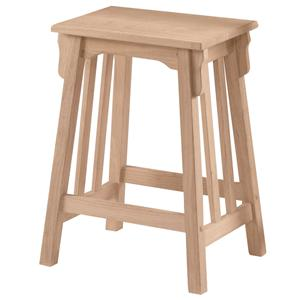 "John Thomas SELECT Dining 24"" Backless Mission Stool"