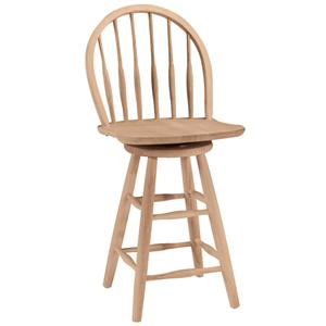 "John Thomas SELECT Dining 24"" Windsor Spindleback Stool"