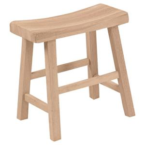 "John Thomas SELECT Dining 18"" Saddle Seat Stool"