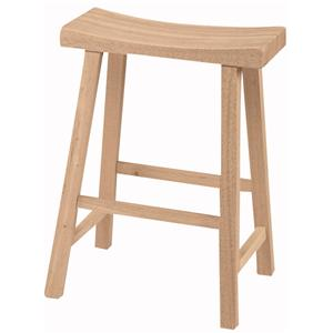 "John Thomas SELECT Dining 24"" Saddle Seat Stool"