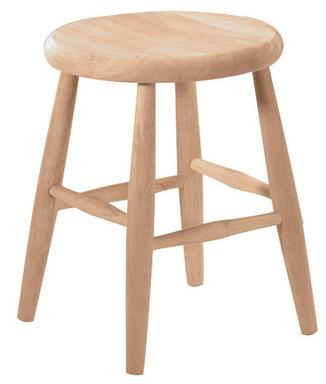 "18"" Scoop Seat Stool"